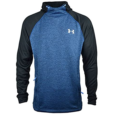 Under Armour 2017 Coldgear Tech Terry Fitted PO Hoody Pullover Mens Sports Hoodie Blue Marker XL