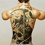 tzxdbh 2pcs-Men Tatouages temporaires Grand Transfert d'eau Plein Tatouage au Dos des Ailes de Dragon Tattoo Art Autocollant Tatouage et Corps Autocollants Grands 2pcs 28