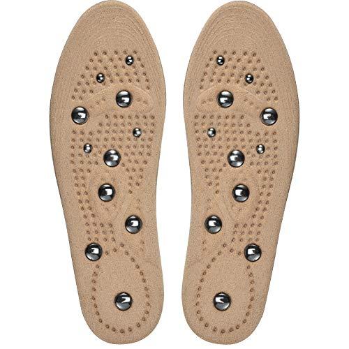 Soumit solette terapia magnetica l (eu 40-46), soletta massaggi di magnetico per cura dei piedi, solette massaggio con magnete per migliorare la circolazione sanguigna, beige