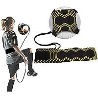 FBSPORT Entrenador de fútbol para entrenamiento de fútbol, entrenamiento con manos libres, para mejorar las habilidades de fútbol, ayuda ajustable cinturón para niños y adultos jóvenes