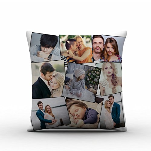 GiftsOnn Cushion Personalized With 9 Photos