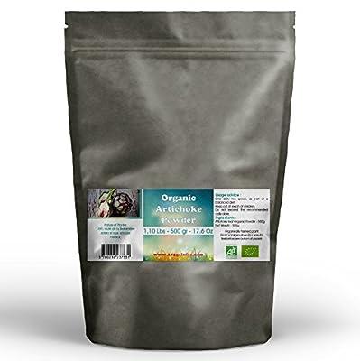 Organic Artichoke Leaf Powder 500 gr - 1.10 Lbs from GPH