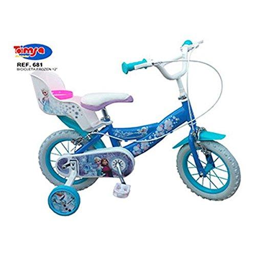 """Bicicleta para Niña, 12"""" Motivo Frozen, de 3 a 5 Años"""