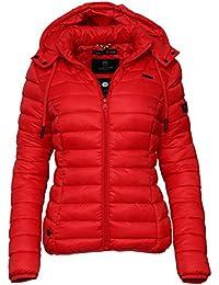 Marikoo Damen Übergangs Steppjacke Herbst Winter Jacke mit Kapuze 10 Farben  XS - XXL Ein Alles 729a55f073