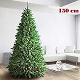 BAKAJI Albero di Natale 150 CM Super Folto Realistico Colore Verde 438 Rami...