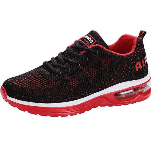 Dexuntong Mens Womens Sports Trainers Walking Fitness Gym Sneakers Shock Absorbing Air Running Shoes