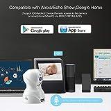 Dome Kamera - Atuten WiFi IP Kamera 1536P Wireless Überwachungskamera,Smart Home Kamera mit Nachtsicht,Auto-Rotation,2 Wege Audio,Bewegungsalarm,64G TF Card,Baby Monitor,Kompatible mit Alexa Echo Show - 4