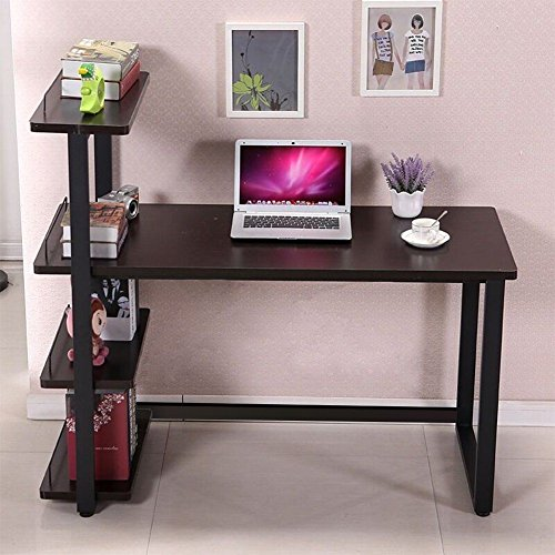 panana-black-computer-desk-home-office-furniture-pc-table-study-workstation-with-bookcase-shelf