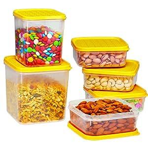 Ruchi Storewel Container Set, 6-Pieces, Yellow