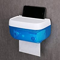 TY&WJ Creativo Tejido Portarrollos para papel higiénico Montaje en pared Punchlibre Soporte para papel higiénico Rollo