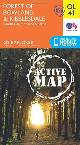 OS Explorer ACTIVE OL41 Forest of Bowland & Ribblesdale (OS Explorer Map)