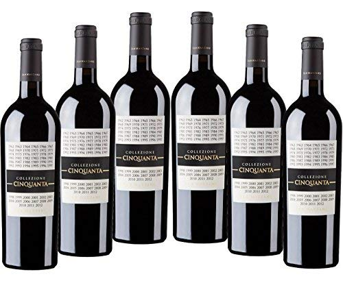 Sparpaket San Marzano Collezione Cinquanta Vino Rosso d\' Italia (6 x 0,75 l) 2012 Rotwein trocken