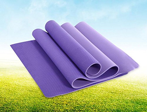 Non-dérapant Tapis De Yoga En Caoutchouc Mouvement Mat Fitness Pilates 61 * 173cm