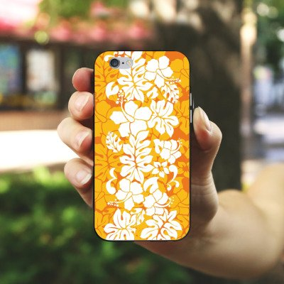 Apple iPhone 4 Housse Étui Silicone Coque Protection Ornement Motif Motif Housse en silicone noir / blanc