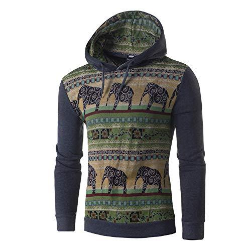 JiaMeng Herren Herbst Winter Tier Print Langarm Hoodie Top Bluse Warme Jacke Übergangsjacke Herrenjacke Jacke
