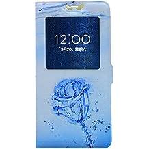 Lenovo A806 (A8) Artistry Case Forro protector de Pantalla funda carcasa - Rose - libre 1 x Protector de pantalla transparente