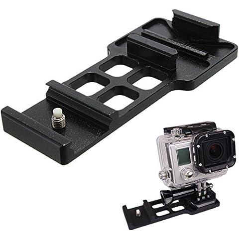 Estensione lega di alluminio della guida del tessitore di montaggio laterale per GoPro HD Hero 4 Sessione 2 3 3 Plus