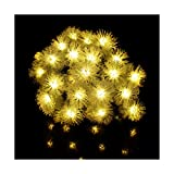 Katyis Solar 30led 8 Modus Schneeball Lichterketten Outdoor Lichterketten Solar Power Party Lichter Gartendekoration Wasserdicht 3pcs,Warm