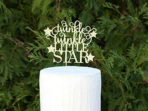 le Star Tortenaufsatz für Babyparty Kuchen Topper Gender Reveal Kuchen Dekorationen Twinkle Twinkle Little Star Party 1. Geburtstag Kuchen ()