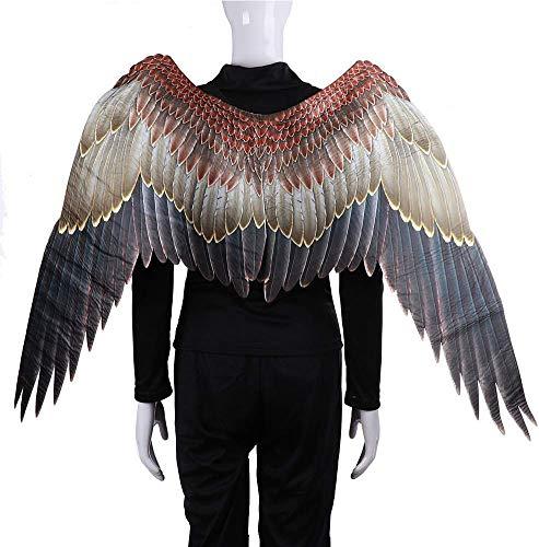 szdc88 Cosplay Kostüm Adler Flügel, Fleece Groß Flügel Engelsblau Fairy Flügel Kostüm Kostüm Bühne Zubehör für Karneval Halloween Weihnachten Urlaub Party - Mehrfarbig, (Adler Kostüm Flügel)