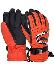Vbiger Ski Gloves Kids Extreme Cold Weather Gloves Waterproof Thermal Snowboarding Gloves