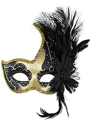 Venetian Eye Mask Fancy Dress Accessory Fluff Feather Diamond Lace for Party Ball masks