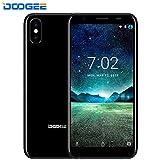 Telephone Portable Debloqué - DOOGEE X55 Double SIM Smartphone avec Double Caméras arrière 8.0MP - 5.5' HD + 18:9 Plein écran Android 7.1 Smartphones - 2800mAh - MT6580 Processeur - ROM 16 Go - Empreinte Digitale - GPS - Bluetooth - Noir