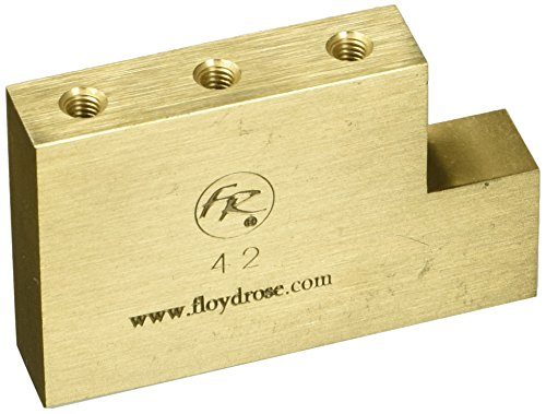 Floyd Rose Fat Messing Block Elektrische Gitarre Brücke (froftbl42) Update-international Ap