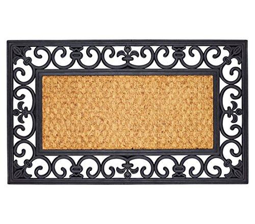 Dehner Fußmatte Gazelle, ca. 75 x 45 cm, Kokosfaser, Gummi, schwarz-braun