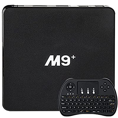[2017 New Arrivals] SEGURO® M9 Plus TV BOX M9+ Amlogic S905X 64bit Quad-core Android 6.0 Smart TV Box HDMI 2.0b 1G/8G Supports 3D 4K WIFI + Mini Wireless Keyboard