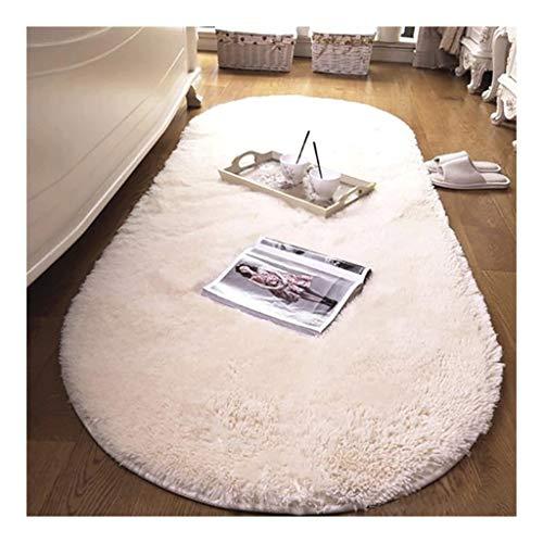 Ultraweiche Moderne Innenteppiche Samt Nordantarktis Samt Oval Teppich Wohnzimmer Schlafzimmer Nachttisch Türmatte Teppiche Teppiche for Wohnzimmer Area Rug (Color : White, Größe : 150 * 200cm) -
