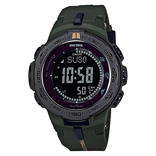 Casio Men's Pro Trek PRW3100Y-3 Green Rubber Quartz Sport Watch