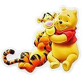 3-D Effekt Prägung - Wandbild / Türschild -  Winnie the Pooh kuschelt mit Tigger  - Bild - wasserfest / Kinderzimmer Deko Bilder - Türschilder - Puuh Bär - Pop-up / Bilder - Wandschild aus Kunststoff / Plastik