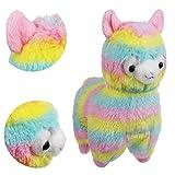 """Alpacasso 6.7 """"Rainbow Plush Alpaca, Lindo Juguete de peluche."""