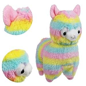 "Alpacasso 6.7"" Rainbow Plush Alpaca,"