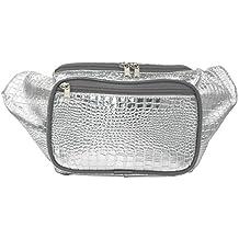 26e08edb0be2f8 Doris Boutique FU - [3 Tasche] PU Leder Gürteltasche Canvas Hüfttasche  Gewebtes Baumwollgewebe Bauchtasche