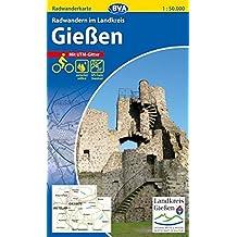 Radwanderkarte BVA Radwandern im Landkreis Gießen 1:50.000, reiß- und wetterfest, GPS-Tracks Download (Radwanderkarte 1:50.000)