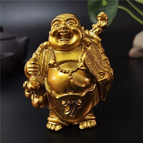 diaosujia golden feng shui maitreya ridere statua del buddha scultura ornamento giardino decorazione casa felice cinese di statue di buddha figurina