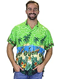 Funky Hawaiian Shirt, green XXXX-large