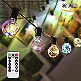 Glühbirne Lichterkette GREEMPIRE G40 Bunt 30 Glühbirne 10M 150 LEDs Globus Schnur Kupferdraht String Stromversorgung mit Fernbedienung Indoor Outdoor Lichterketten für Weihnachten, Bars, Garten