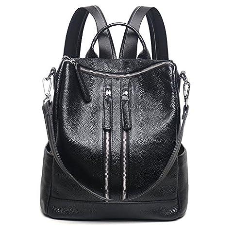 YAAGLE Damen echt Büffelledertasche moderne multifunctionale Schultertasche weiche Leder wasserdichte