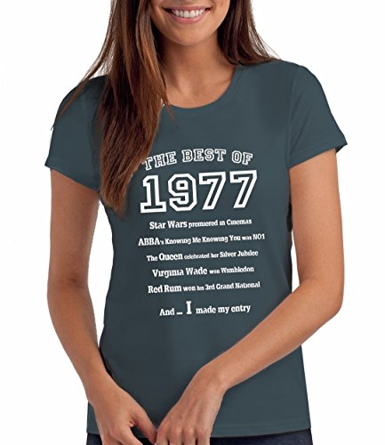 Da Londra Damen - The Best of 1977 - T-Shirt als Geschenk zum 42. Geburtstag: De, M