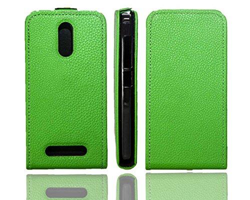 caseroxx Hülle/Tasche Flip Cover passend für Archos 45 Neon, Schutzhülle (Handytasche klappbar in grün)