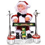 Toyvian - Pupazzo di Babbo Natale Che Canta la Danza, a Batteria, per Le Vacanze