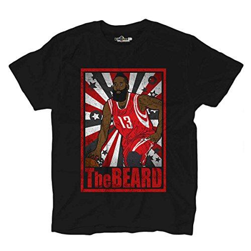 KiarenzaFD Camiseta Camiseta Baloncesto Vintage Parodia James All Star Harden The Beard 1Hombre, XKTSA01777_XL, Black Opal, X-Large