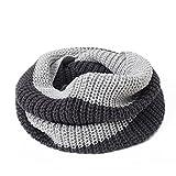 Miya® modische Damen Herbst/Winter lange Strickschal, Oversized Grobstrick Schal, super weich und hochwertige Umhang, (hell grau und schwarz)