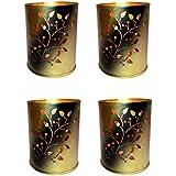 Design Villa Floral Design Multicolor Tealight Votive Candle Holder ( Pack of 4 )