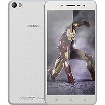 "Hisense HS-L695 - Smartphone de 5.5"" (2 GB de RAM, 16 GB de memoria interna, cámara de 13 MP, Android) color blanco"
