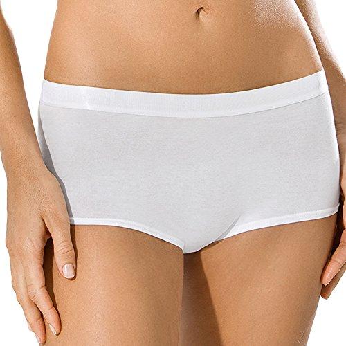 5er Pack UNWAGO Damen Pants - Damen Unterhosen - Feelin'Fine Cotton - Farbe Weiß, Schwarz, Skin - Größe 38 bis 46 Skin