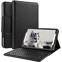 Samsung Galaxy Tab E 9.6 Teclado Funda, D DINGRICH Bluetooth inalámbrico QWERTY Teclado Case Pare 9.6 Inch ( SM-T560 / T561 ) ultra delgado Imán de desmontable de para soporte Fold Funda de cuero de alta calidad, funda de teclado para Samsung Tab E 9.6 Inch
